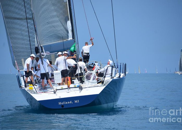 Sail Greeting Card featuring the photograph Windquest  Intesity by Randy J Heath