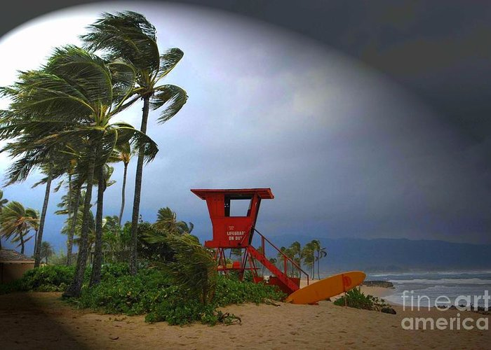 Hawaii Greeting Card featuring the photograph Windy Day In Haleiwa by Mark Gilman