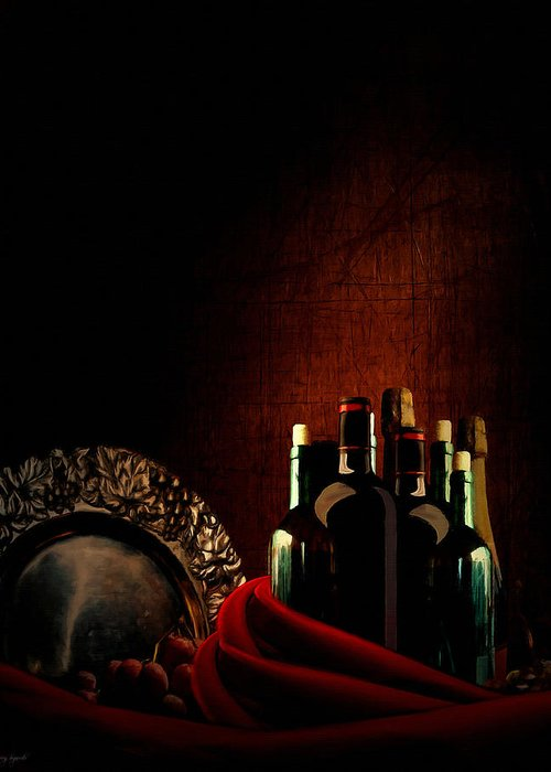 Wine Greeting Card featuring the photograph Wine Break by Lourry Legarde