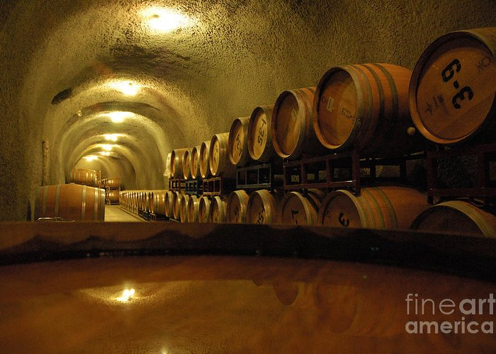 Wine Greeting Card featuring the photograph Wine Cellar by Micah May