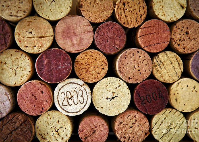 Wine Greeting Card featuring the photograph Wine Corks by Elena Elisseeva