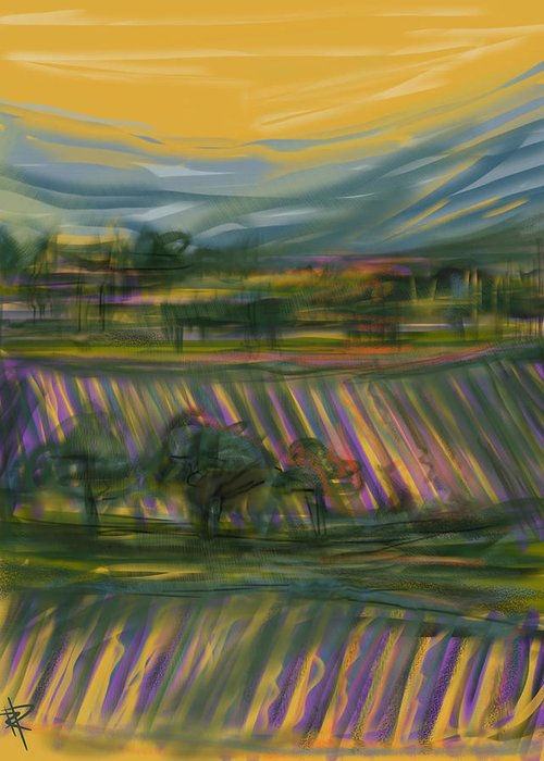 Wine Greeting Card featuring the mixed media Wine Country by Russell Pierce