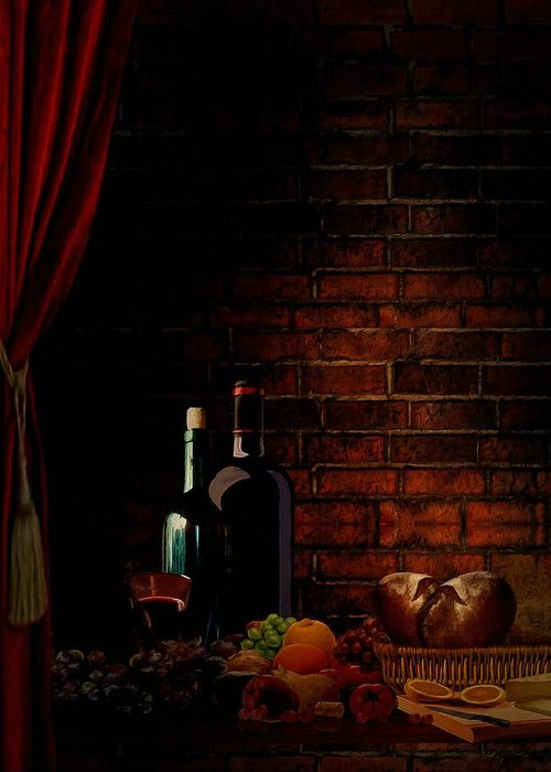 Wine Greeting Card featuring the photograph Wine Lifestyle by Lourry Legarde