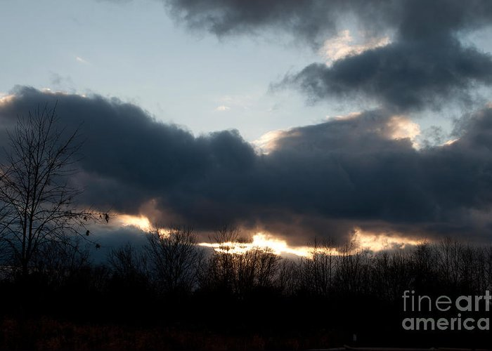 Sky Greeting Card featuring the photograph Winter Afternoon Clouds by Gary Chapple