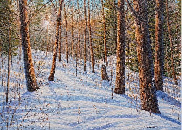Jake Vandenbrink Greeting Card featuring the painting Winter Light by Jake Vandenbrink