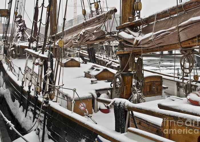 Europe Greeting Card featuring the photograph Winter On Deck by Heiko Koehrer-Wagner