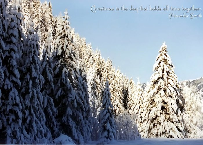 Winter Greeting Card featuring the photograph Winter Wonderland Austria Europe by Sabine Jacobs