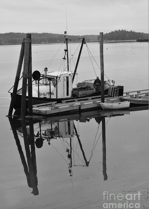 Wiscasset Greeting Card featuring the photograph Wiscasset Reflection by Catherine Reusch Daley