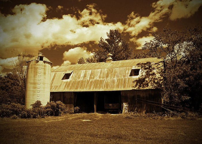 Barn Photographs Greeting Card featuring the photograph Wisconsin Hay Barn by Ms Judi
