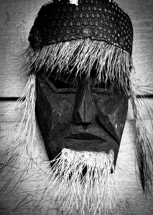 Mask Greeting Card featuring the photograph Wisdom by Dax Ian