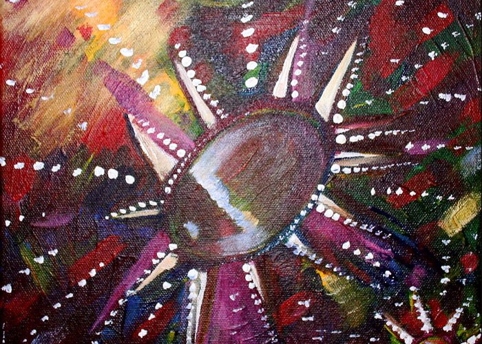 Greeting Card featuring the painting Wish by Kate Fortin