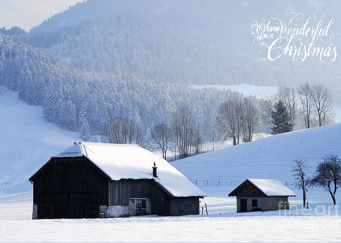 Winter Greeting Card featuring the photograph Wishing You A Wonderful Christmas by Sabine Jacobs
