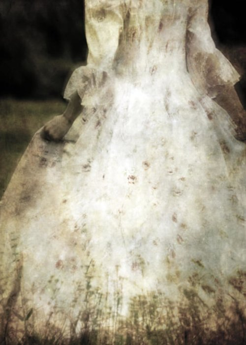Female Greeting Card featuring the photograph Woman In A Meadow by Joana Kruse