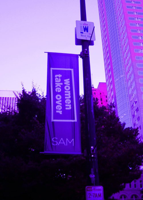 Sam Greeting Card featuring the photograph Woman Take Over In Purple by Kym Backland
