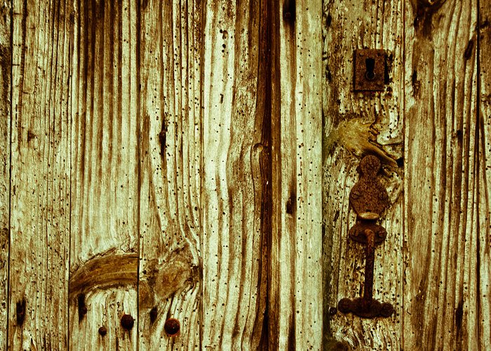 Texture Greeting Card featuring the photograph Wood Grain by Georgia Fowler
