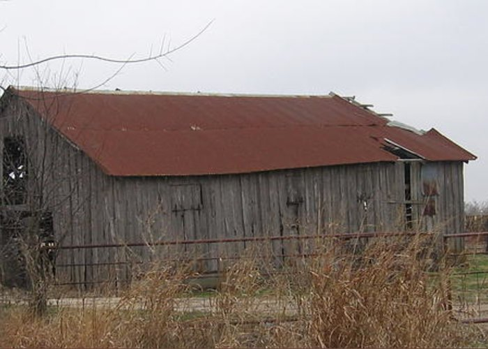 Greeting Card featuring the photograph Wooden Barn by Amy Hosp