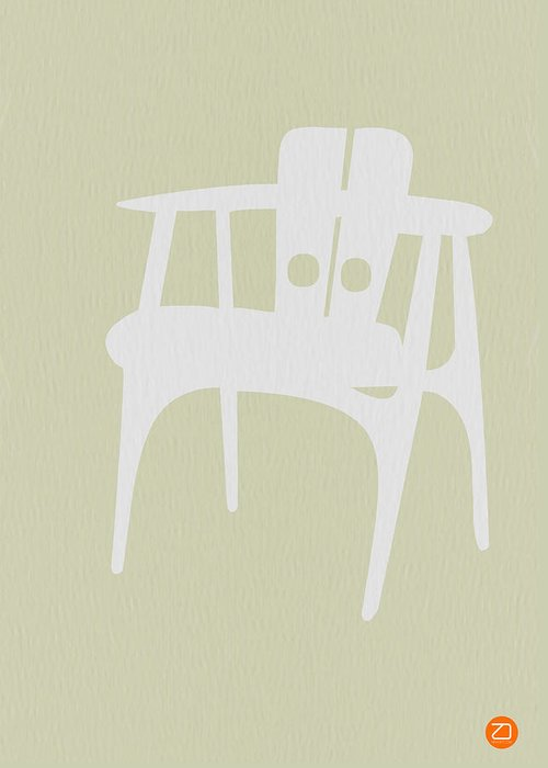 Chair Greeting Card featuring the photograph Wooden Chair by Naxart Studio