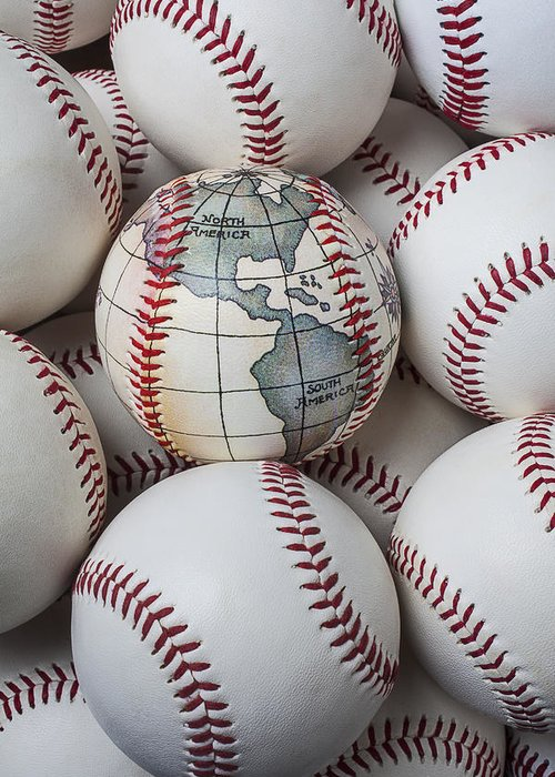 World Greeting Card featuring the photograph World Baseball by Garry Gay