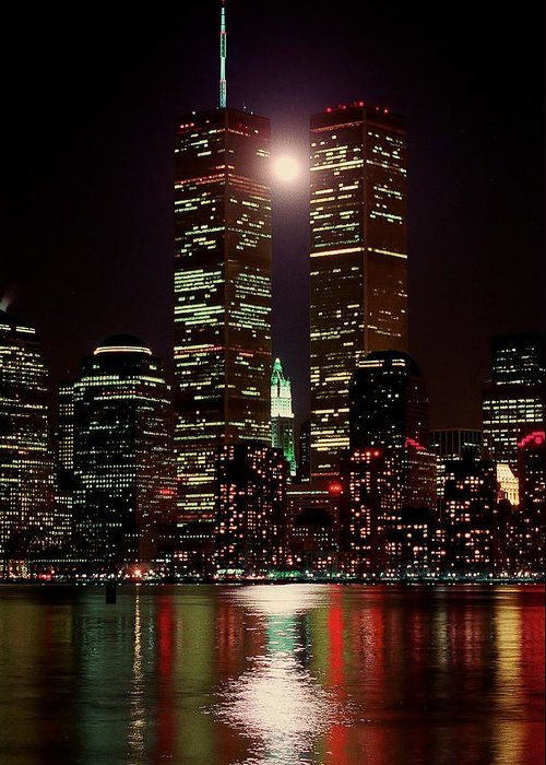 World Trade Center Greeting Card featuring the photograph World Trade Center by Edward Betz