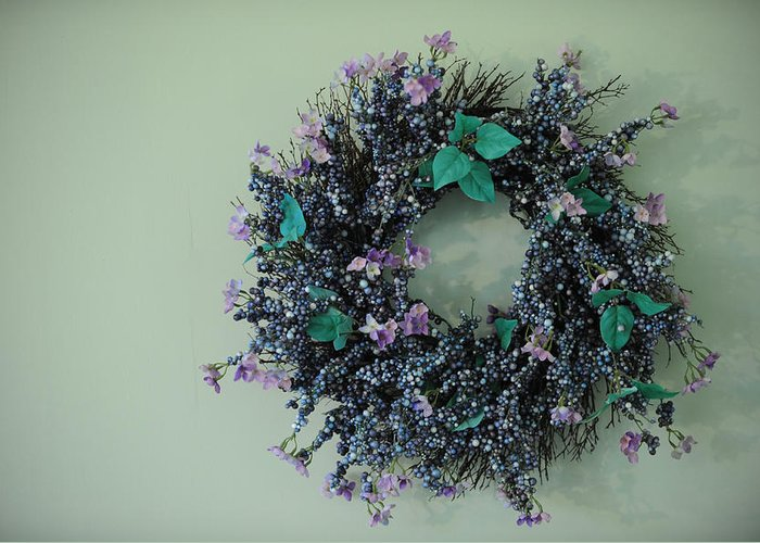 Wreath Greeting Card featuring the photograph Wreath by Brandon McNabb