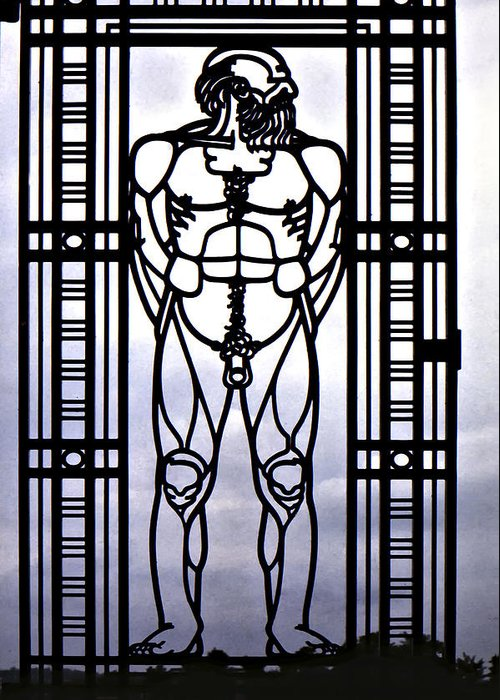 Gustav Vigeland Greeting Card featuring the photograph Wrought Iron Gate by Steve Harrington