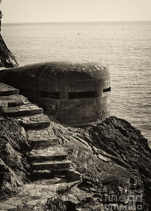 Wwii Greeting Card featuring the photograph Wwii Pill Box by Leslie Leda