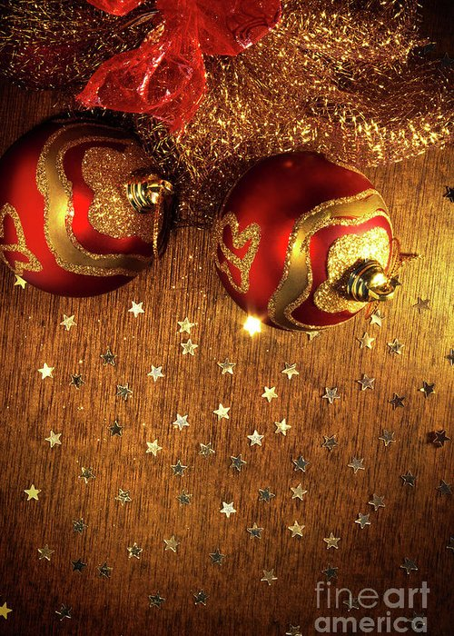 Abstract Greeting Card featuring the photograph Xmas Balls by Carlos Caetano