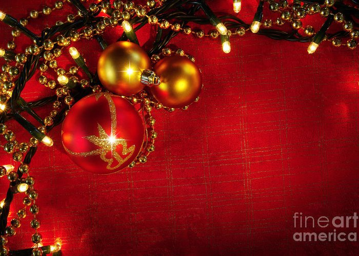 Backdrop Greeting Card featuring the photograph Xmas Frame by Carlos Caetano