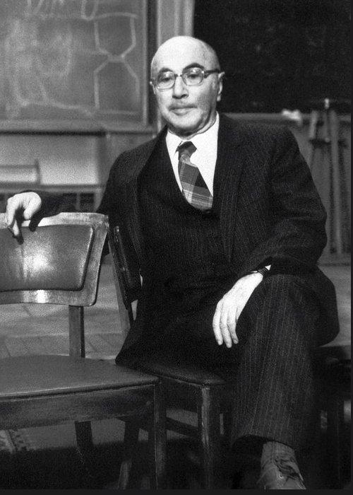 Yakov Zeldovich Greeting Card featuring the photograph Yakov Zeldovich, Soviet Physicist by Ria Novosti