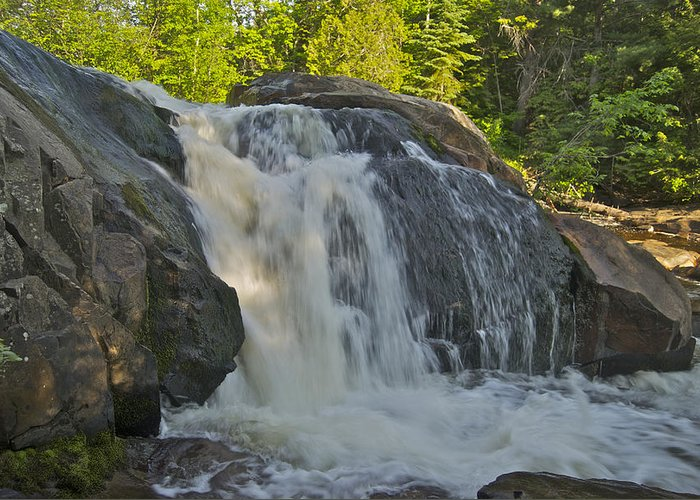 Landscape Greeting Card featuring the photograph Yellow Dog Falls 4192 by Michael Peychich