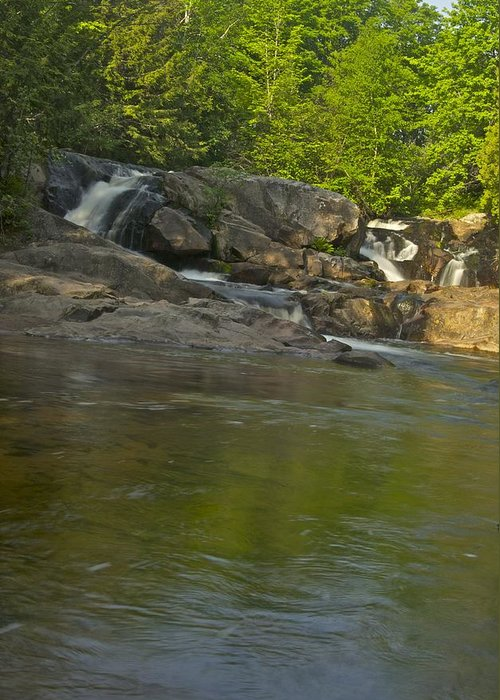 Waterfall Greeting Card featuring the photograph Yellow Dog Falls 4232 by Michael Peychich