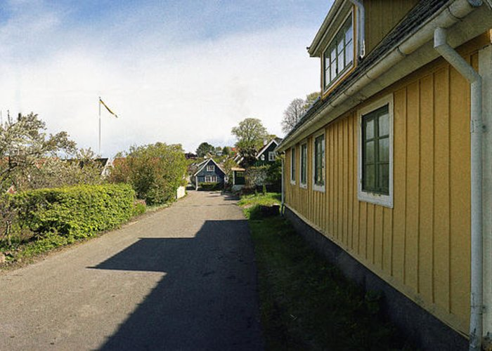 Arild Greeting Card featuring the photograph Yellow Summer House by Jan W Faul
