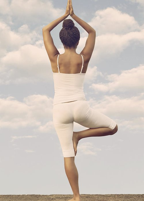 Female Greeting Card featuring the photograph Yoga by Joana Kruse