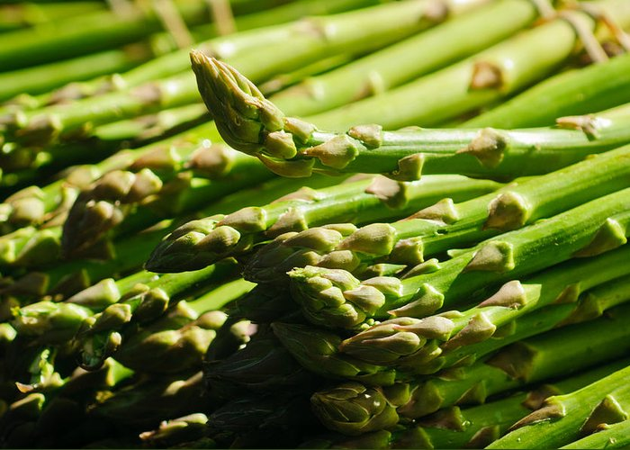 Harvest Greeting Card featuring the photograph Yummy Asparagus by Connie Cooper-Edwards