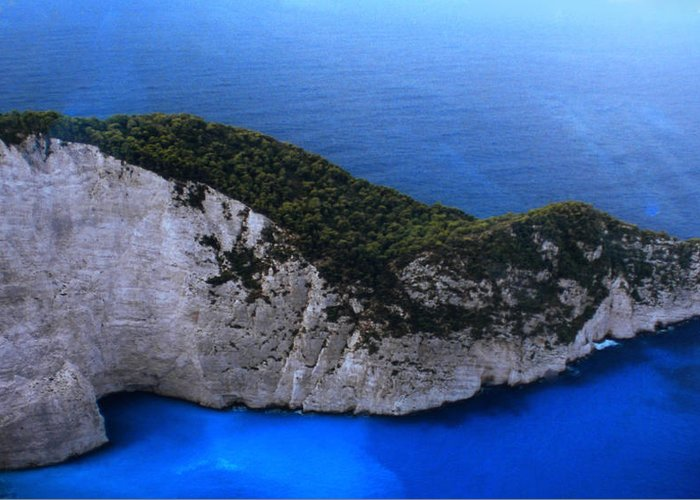 Colette Greeting Card featuring the photograph Zakynthos Crocodile Island Greece by Colette V Hera Guggenheim