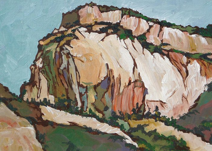 Zion Greeting Card featuring the painting Zion National Park by Sandy Tracey