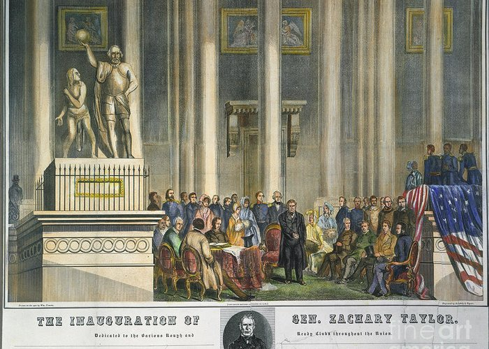 1849 Greeting Card featuring the photograph Z.taylor: Inauguration by Granger