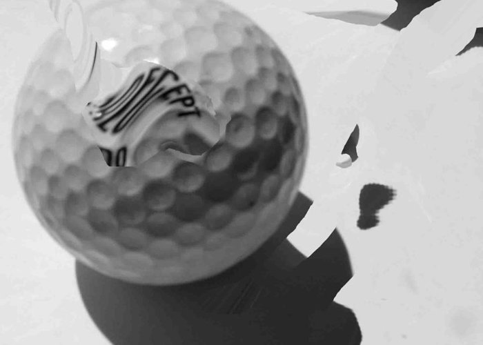 Golf Greeting Card featuring the photograph A Golf Ball On Holiday by Evguenia Men