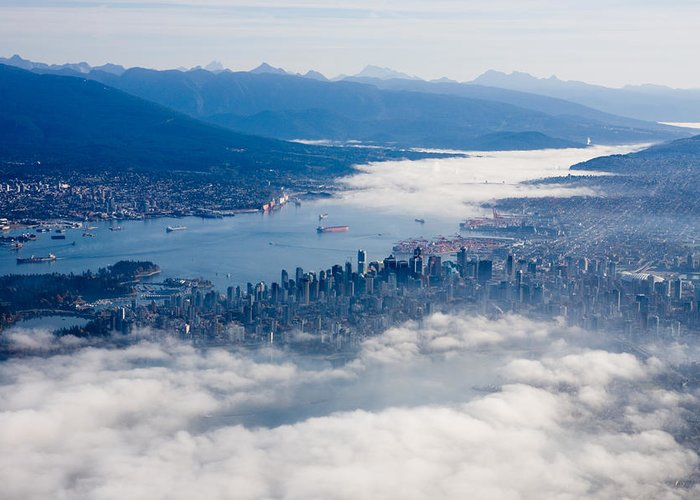Vancouver Greeting Card featuring the photograph An Aerial View Of Vancouver by Taylor S. Kennedy