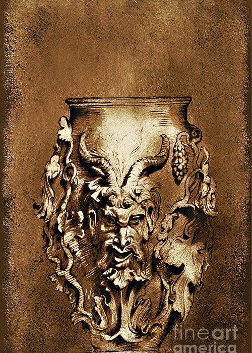 Rubens Greeting Card featuring the painting Dionysus.... by Andrzej Szczerski