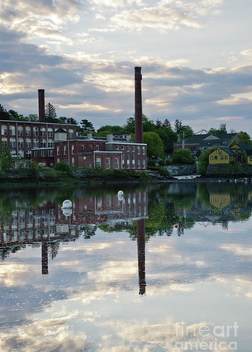 Landscape Greeting Card featuring the photograph Exeter New Hampshire Usa by Erin Paul Donovan