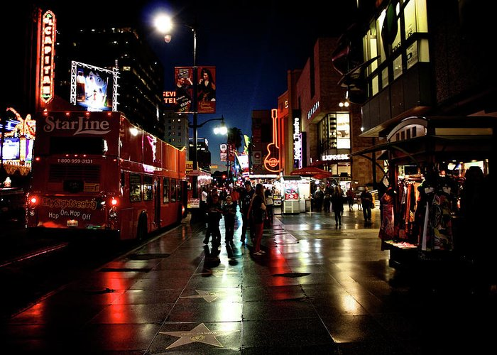 Hollywood Greeting Card featuring the photograph Hollywood Blvd. by Amber Abbott