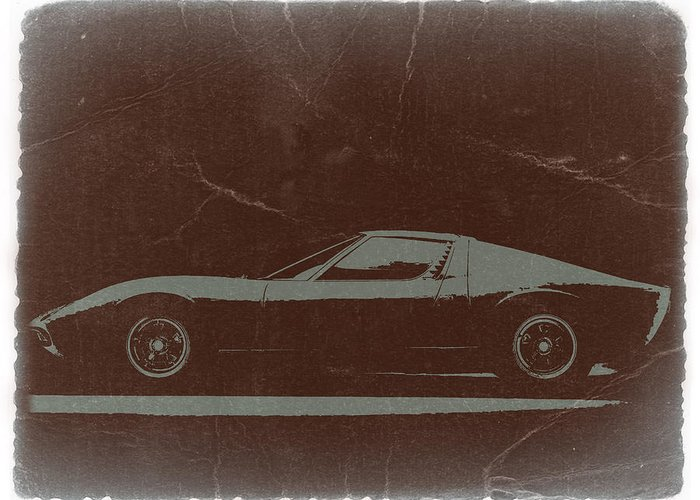 Lamborghini Miura Greeting Card featuring the photograph Lamborghini Miura by Naxart Studio