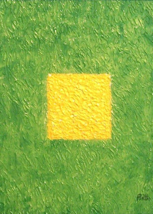 Corporate Art Greeting Card featuring the painting My Square by Anneliese Fritts