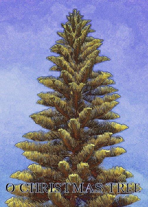 Christmas Greeting Card featuring the photograph O Christmas Tree by Jodie Marie Anne Richardson Traugott     aka jm-ART
