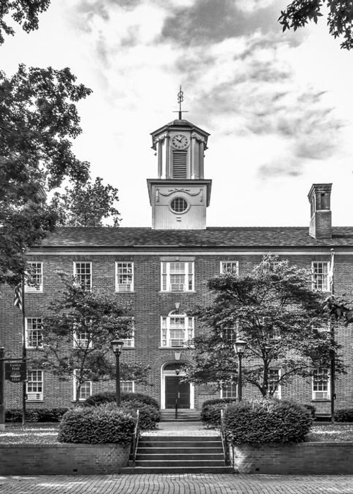 Athens Greeting Card featuring the photograph Ohio University Cutler Hall by University Icons
