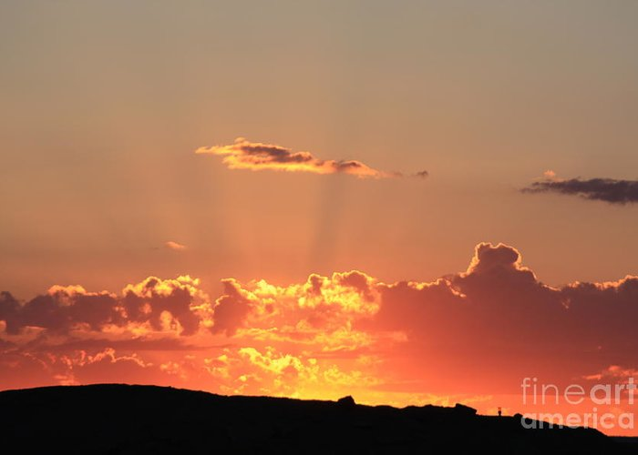 Sunset Greeting Card featuring the photograph Sunset by Edward R Wisell