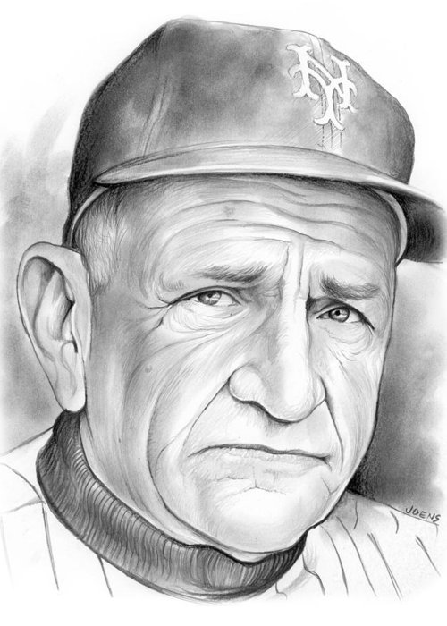 Mets Drawings Greeting Cards