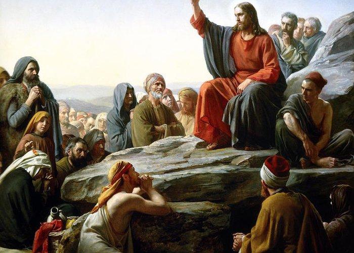 Sermon Carl Bloch Greeting Cards