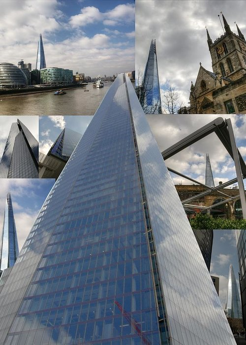Shard Greeting Card featuring the photograph The Shard by Chris Day
